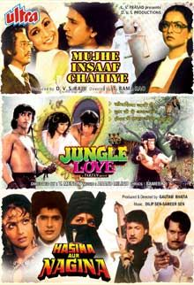 MUJHE INSAAF CHAHIYE+JUNGLE LOVE+HASINA AUR NAGINA